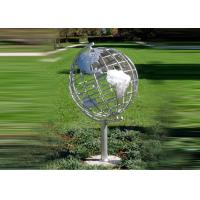 China Decorative Stainless Steel Sculpture With Semi - Meridian Globe Shape wholesale