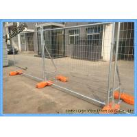 Welded Galvanized Temporary Mesh Fencing , Portable Outdoor Fence 2.4 X 2.1 Metres