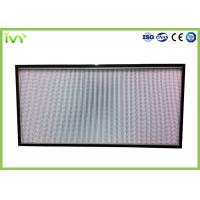 China H10 - H14 Efficiency Hepa Filter Replacement , Pleated Panel Air Filters Easy To Install wholesale
