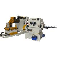 China Metal Coil Processing Nc Servo Roll Feeder With Loading Trolley For Sheet / Plastic wholesale