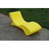 China Custom Glow Outdoor Pool Furniture , Lightweight Chaise Pool Chairs wholesale