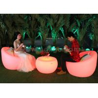 China Outdoor Plastic Glowing Led Chairs Leisure Bar Chair Bar Stool With Table wholesale