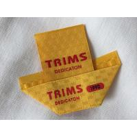 China Center / Mitre Fold Taffeta Woven Labels , Elegant Embroidered Sewing Labels wholesale