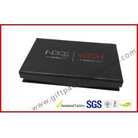China rigid board cosmetic packaging box with mirror , black box with plastic inner logo foil wholesale