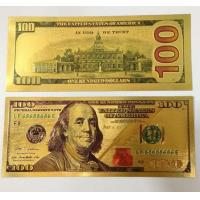 China Gold Foil Banknote US Gold Dollar Note for Collection wholesale