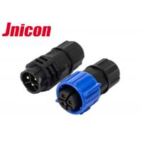 China Straight LED Outdoor Waterproof Connectors 3 Pin Blue Color For LED Display wholesale