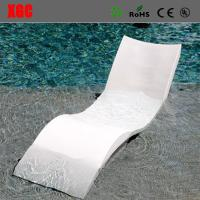 China Wavy Shape In - Water Chaise Poolside Leisure Sun Lounge Chairs Glass Fiber Materials wholesale