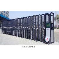 China Retractable Aluminium Automatic Entrance Gates With Mesh Up To 2.5m Height wholesale