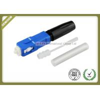China SC /UPC Fiber Fast Connector Hot Melt Type For 0.9mm And 0.25mm Fiber Blue color wholesale