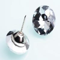 China Multi Style Various Size Crystal Rhinestone Buttons Transparent 25mm Diameter wholesale