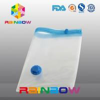 China Transparent Vacuum Seal Bag for Food / Apparel / Quilt Storage With Zipper And Valve wholesale