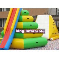 China Heat Sealed Inflatable Water Park , Aqua Floating Island Climbing Tower Slide on sale