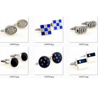 China Oval Shape Silver Engraved Wedding Cufflinks Rhinestone Engraved Crystal Built In wholesale