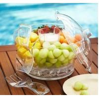 China Salad Transparent Clear Acrylic Bowl With Lid For Restaurant wholesale
