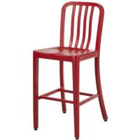 China Red Contemporary Emeco Navy Counter Stools Replica , Kitchen Stools With Backs Stool wholesale