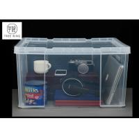 Buy cheap 45Ltr Plastic Usefull Crate with Clip-lock lid container For hang foolscap files from wholesalers