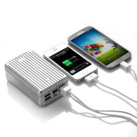 China Large Capacity 24000MAH USB Power Bank 4- Port for Ipad / Laptop / Iphone wholesale