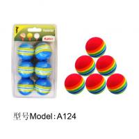 China A 124 foam ball,dimple ball,floating golf ball,golf practice ball wholesale