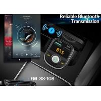 Quality Black Bluetooth Handsfree Car Radio Transmitter Music Adapter 3.1A Dual USB Port for sale