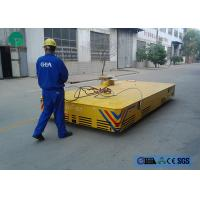 China Environmental platform motorized trackless transfer carriage with limit switch on sale