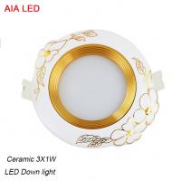 China High power 3x1W LED and High quality  ceramic LED down light in hotel used wholesale