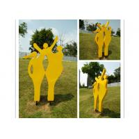 China Happy Family Outdoor Stainless Steel Garden Sculptures Mother And Child Sculpture wholesale
