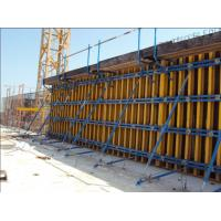 China 60KN/m2 Retaining Concrete Wall Formwork Timber Beam Wall Formwork , Waterproof 55-60kg/m2 wholesale