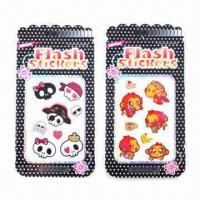 Buy cheap Shinning Glitter Stickers, Eco-friendly and Non-toxic, Easy to Apply and Remove from wholesalers