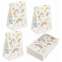 China 36 Packs Kraft Gift Bags / Kraft Paper Bags 5.2x8.7x3.3 Inches For Unicorn Party wholesale