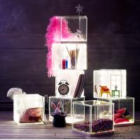 China Light weight Acrylic Storage Boxes , decoration clear display boxes wholesale