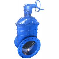 China Flanged Resilient Seated Gate Valve 32'' Horizontal With Gearbox And Hand Wheel wholesale