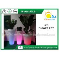 China IP68 Waterproof LED Flower Pot , Smart Controlled Changing Colored Pool Lights wholesale