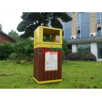 China Recyclable 100% Outdoor Garbage Can , Durable Garden Garbage Can 415 X 365 X 900mm wholesale