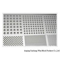 China Slotted Stainless Steel Perforated Mesh Screen , Square Perforated Sheet Metal wholesale