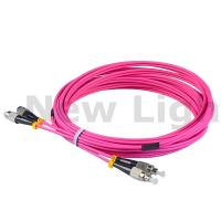 China 3 / 5 meters FC - FC multi mode duplex fiber patch cord OM4 3.0 cable on sale