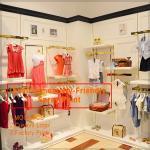 China Newly come high end kids dress up metal clothing shelf wholesale