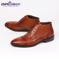 China DALIBAI Lace up Turkey Brown Genuine Leather Dress Weeding Shoes for Men wholesale
