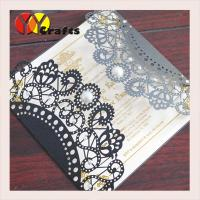 wedding invitation card hot sale black card with round buckle envelope seal