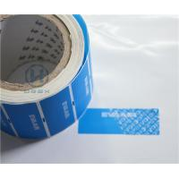 China Clear Bronzing Self Adhesive Security Labels Professional Design For Cosmetic wholesale