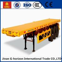 China 13T Fuwa Axle 40 ton Flat Bed Semi Trailer , Container Semi Trailer Yellow Red Green Blue wholesale