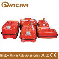 China High Capacity 4x4 Off-Road Accessories Horizontal Gas Can with zinc plated wholesale