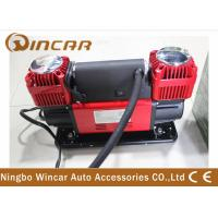 China Metal 12V Portable Air Compressor With 300L/min Double Cylinder Air Tank wholesale