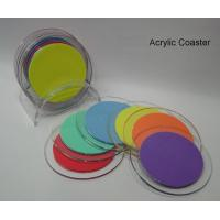 China High Quality Beautiful Shape Acrylic Coasters wholesale