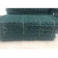 China PVC Coated Gabion Mattress Stone Cage Wire Mesh Green Colour For Srilanka wholesale