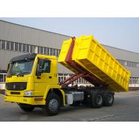 China HOWO 6X4 Carriage Removable Garbage Collection Truck Yellow Color 290/336/371hp wholesale