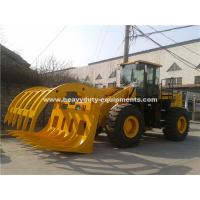 Buy cheap 5 Tons Loading Capacity Wheeled Front End Loader 857 Model with Grass Grapple Cummins Engine for Option from wholesalers