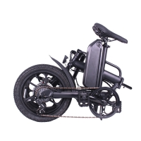 China 250W Rear Drive 32KM/H Fat Tire Folding Electric Bike wholesale