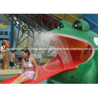 China Frog Shaped Water Pool Slides , Aqua Park Fiberglass Slide Water Play Games for Water park on sale