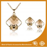 China Zinc Alloy Necklace And Earring Set Gold Plated Stainless Steel Jewelry wholesale