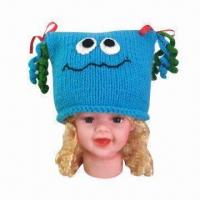 China Hand Crochet Knitted Hat/Animal Hat/Frog-shaped Hat for Children, OEM Orders are Welcome wholesale